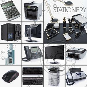 office equipment ip stationery 3d model
