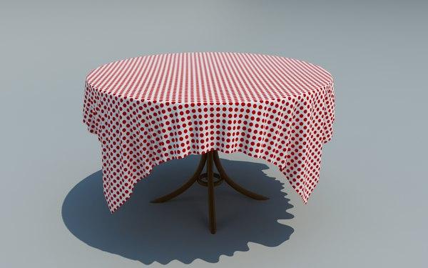 maya table simulated cloth