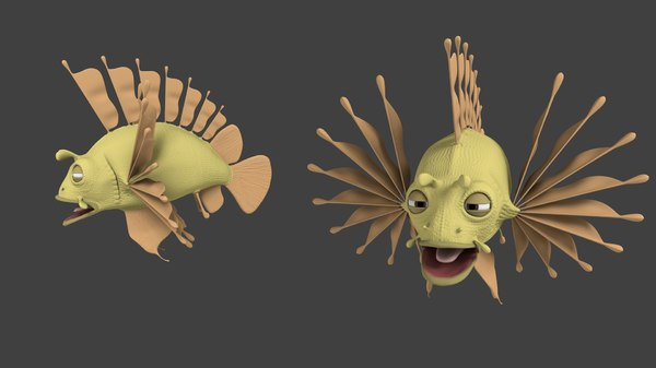 lionfish nemo 3d 3ds