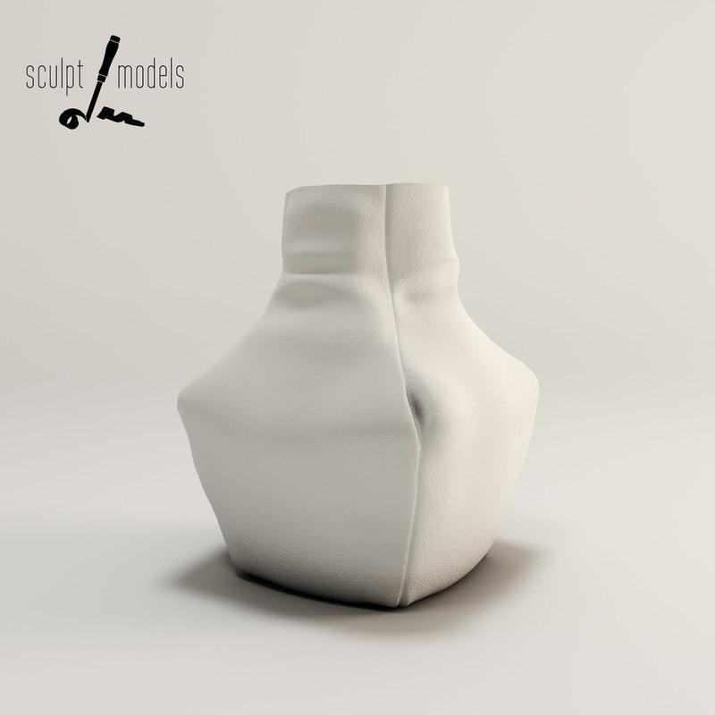 3d leather vase model
