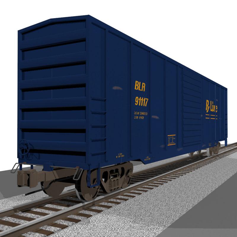 train car box 3d c4d