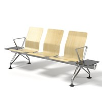 Vitra Airline airport railway station public space waiting area system seat seating chair designer