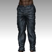3d male jeans model