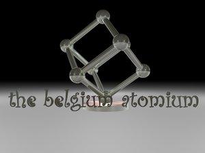 3d model belgium atomium landmark