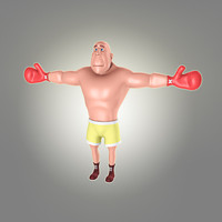cartoon man 2 boxer