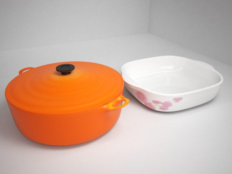 3ds max casserole pots
