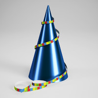 CGAxis Birthday Party Hat 02