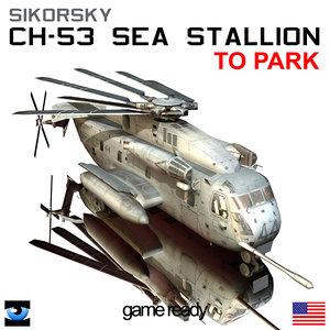 3d sikorsky ch-53e super stallion model