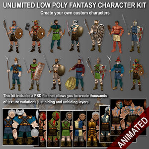 kit unlimited characters 3d model