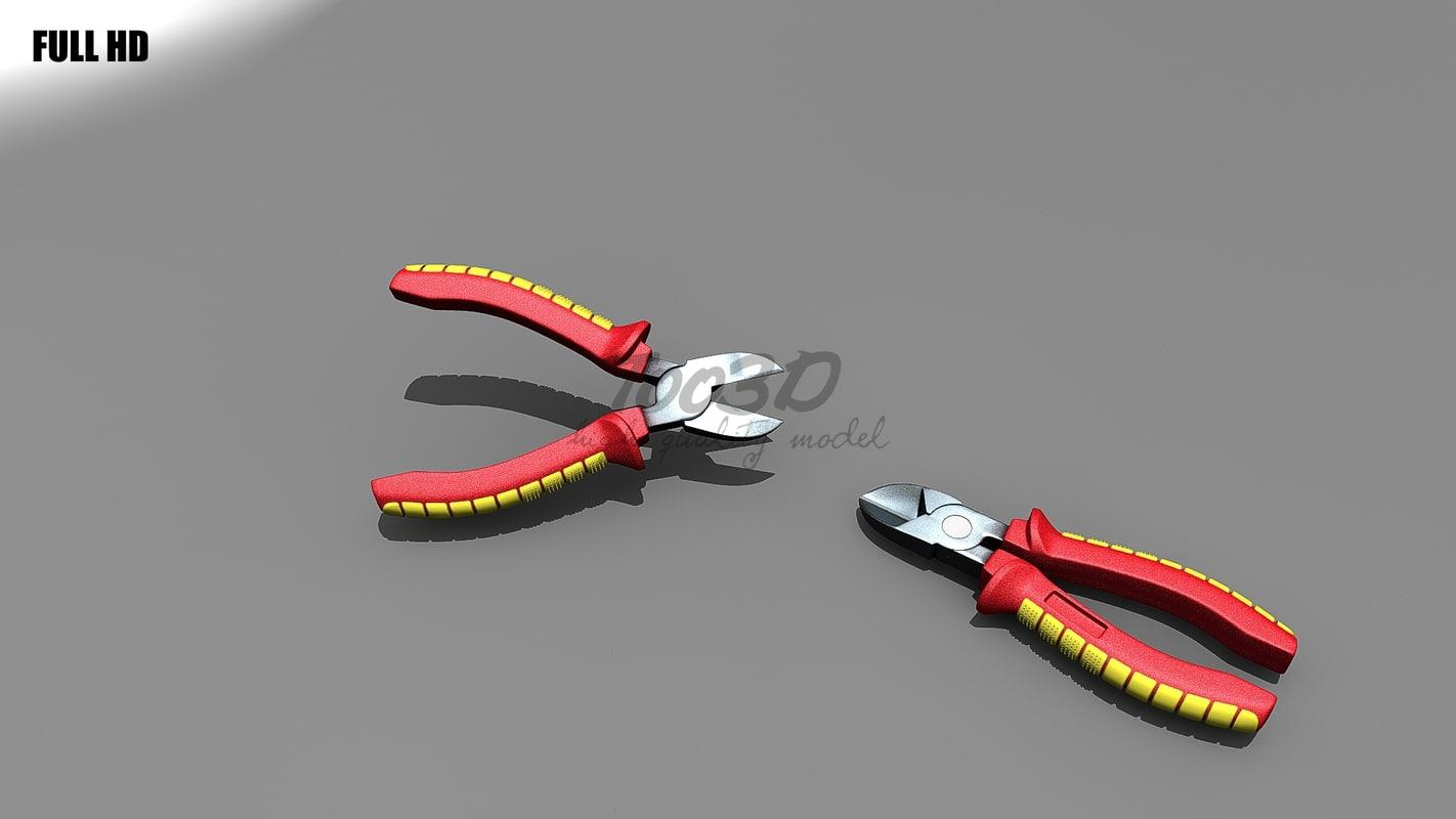 diagonal cutter 3d model