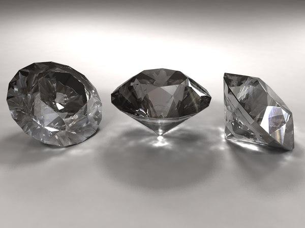 3d model diamond emerald amber