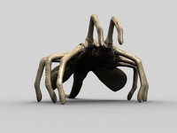 rigged xenomorph facehugger alien 3d max