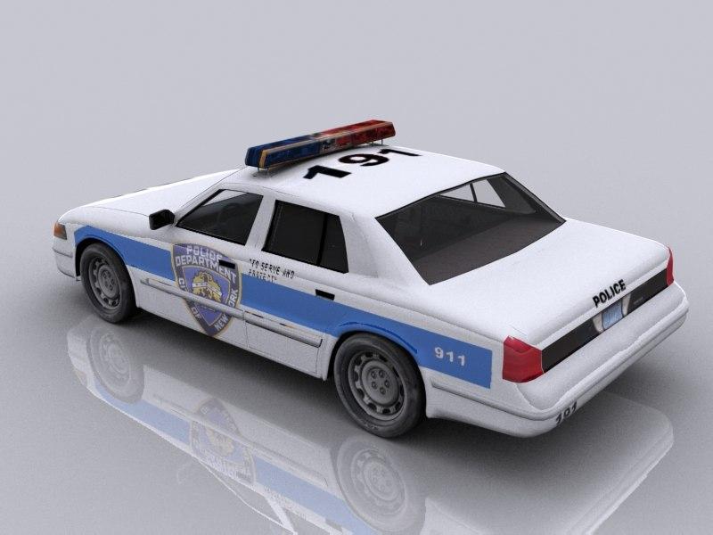new york police car 3d max
