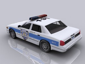 new york police car 3d max