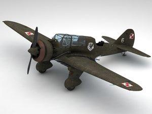 3d pzl23 karas light bomber