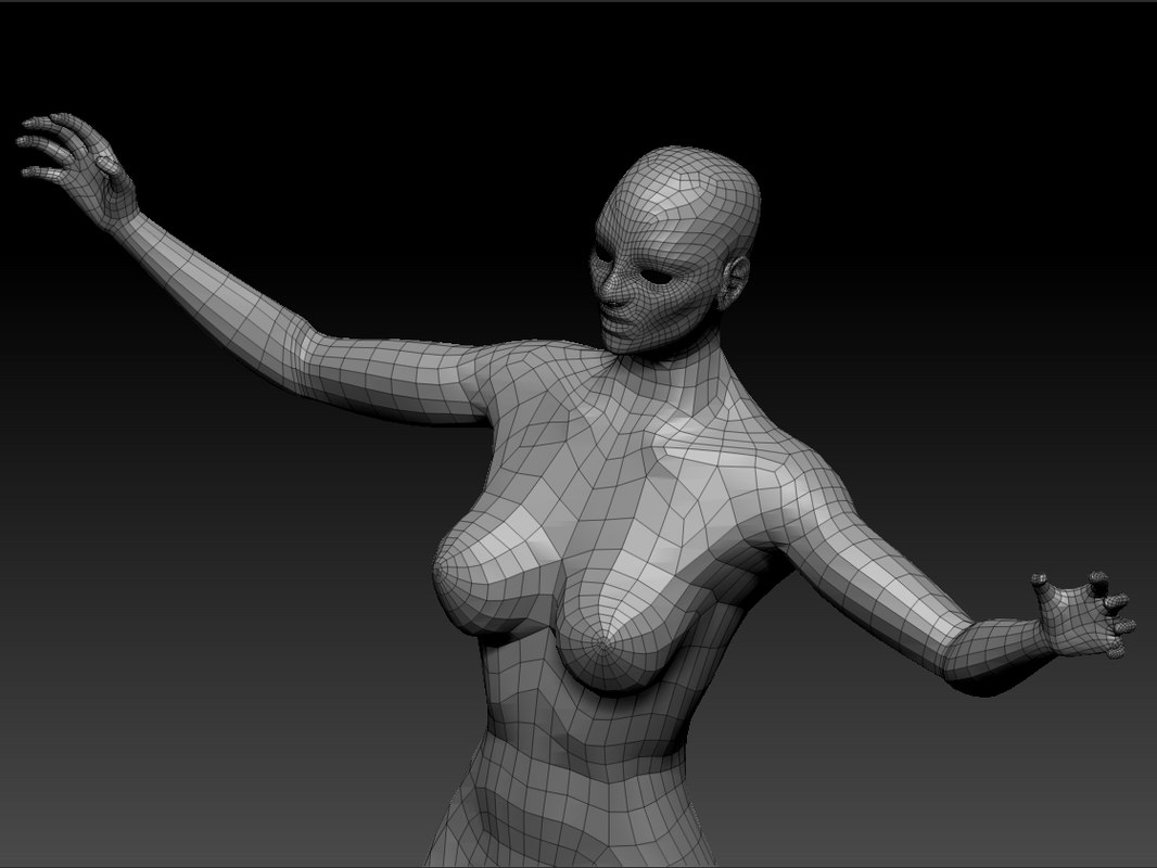 3d strong woman