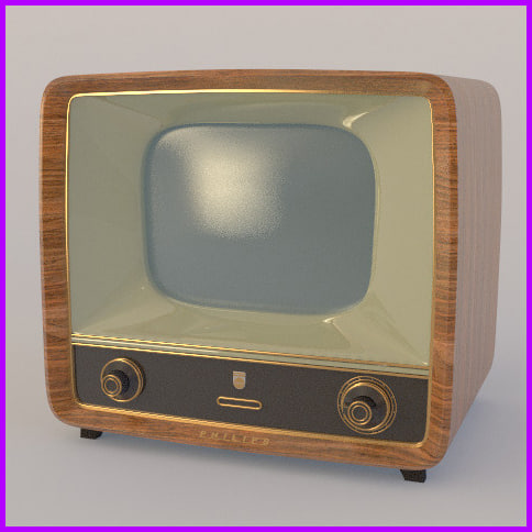 old tv 3d x