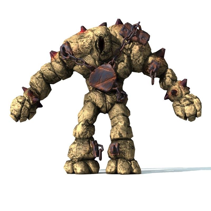 ready rock giant 3d obj