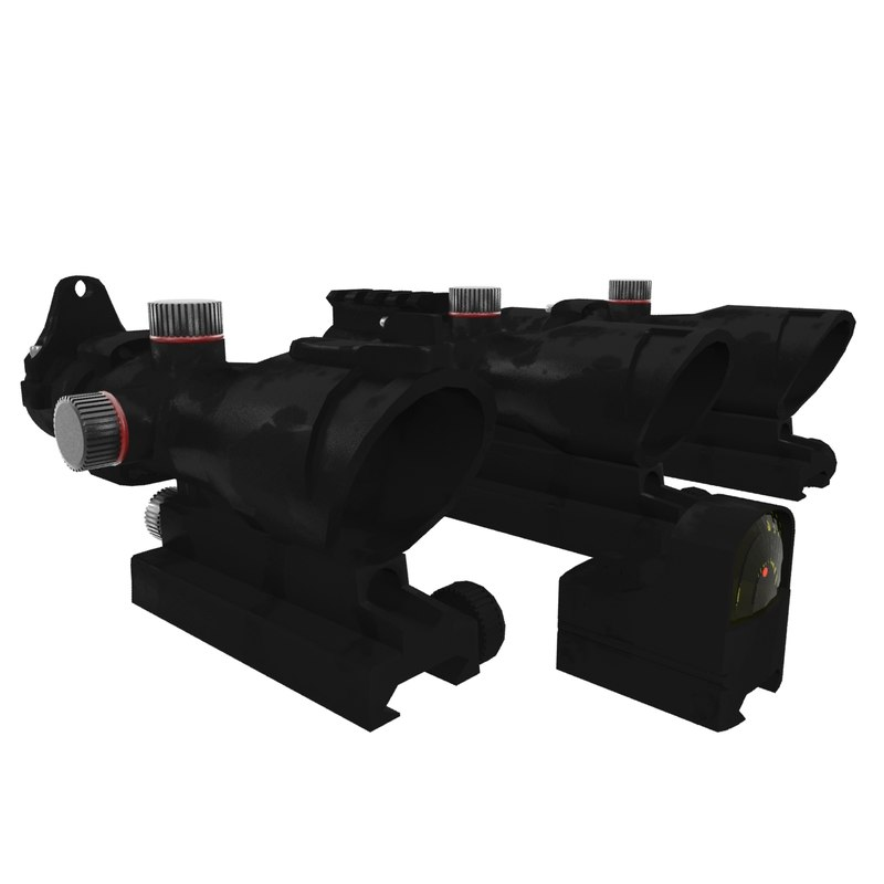 scopes red dot 3d max