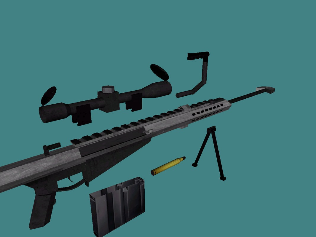free barrett m107 50 caliber 3d model