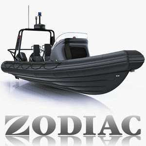military inflatable boat zodiac 3d model