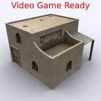 Game Ready Arabic Iraq Afghan House With Balcony Arab