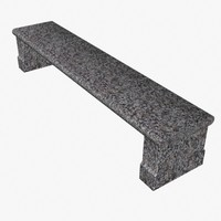 stone bench 3d 3ds