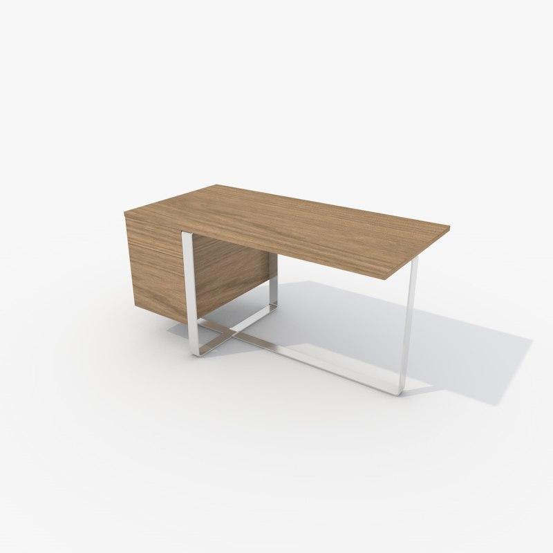 herman miller leige desk 3d model