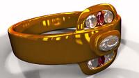 gold diamond ring 3d model