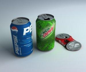 3d model soda