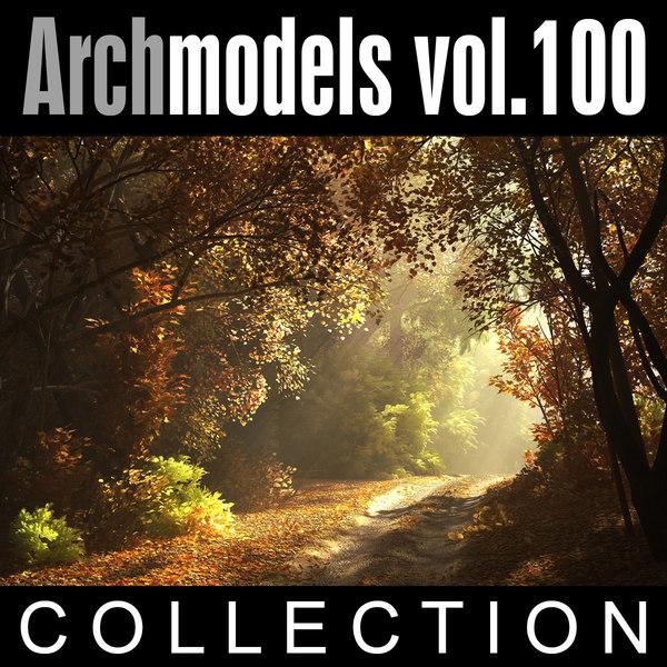 archmodels vol 100 winter trees 3d model
