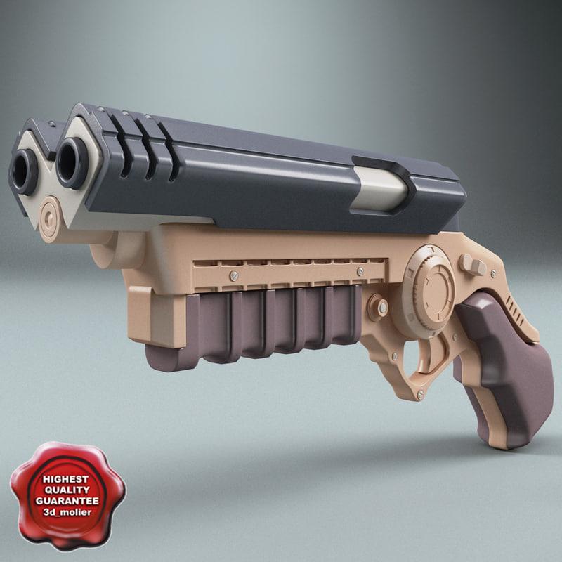3d batman pistol model