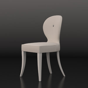 3d cushioned chair capital model