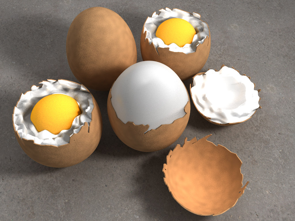 3d egg different stages