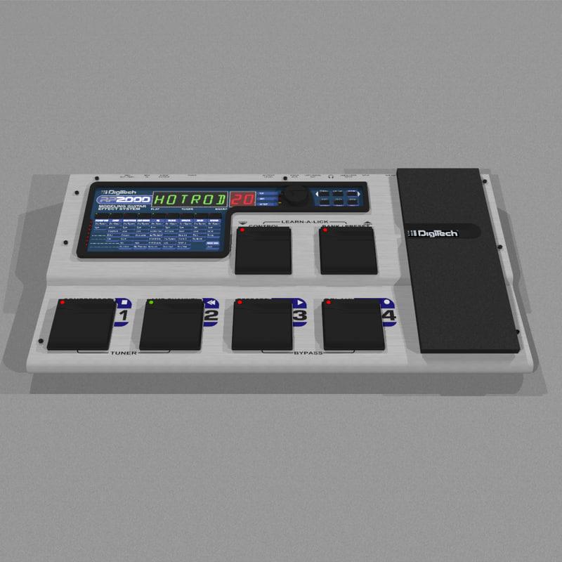 guitar effects processor 3d c4d