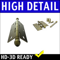 Detailed Door Hinge 3D Model