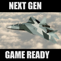 PAK FA T-50 Russian Stealth Jet Game Ready