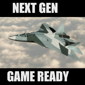 pak fa russian games 3d model