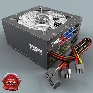 pc power supply unit 3d model