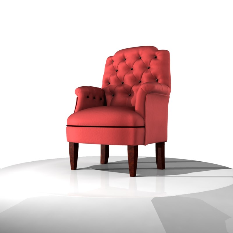 classic armchair sofa 3d model