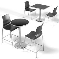 Restaurant bistro cafe chair counter bar stool table round recatngle set