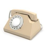 retro phone telephone obj