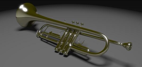 trumpet modeled 3ds