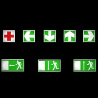emergency signs 3d model