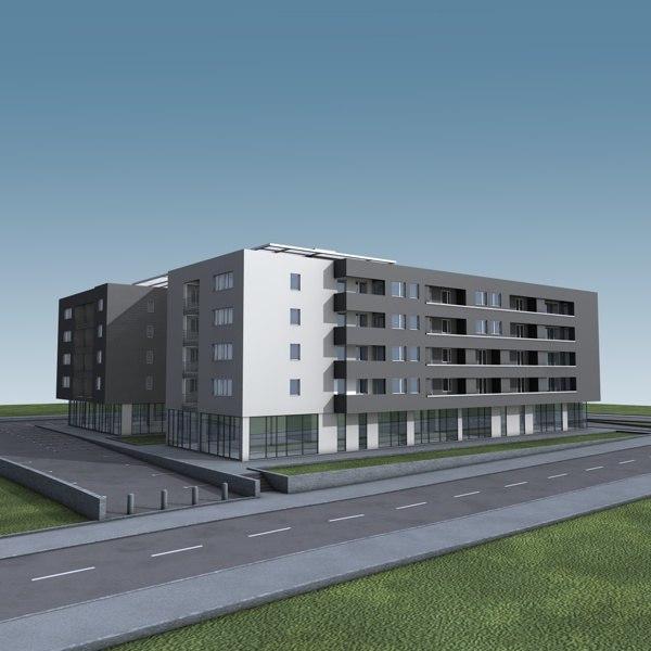 apartment building 3d max
