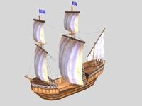 big medieval tradeship