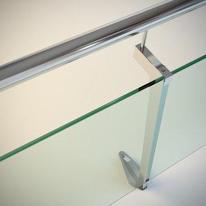 maya steel railing glass