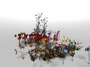 obj flower set