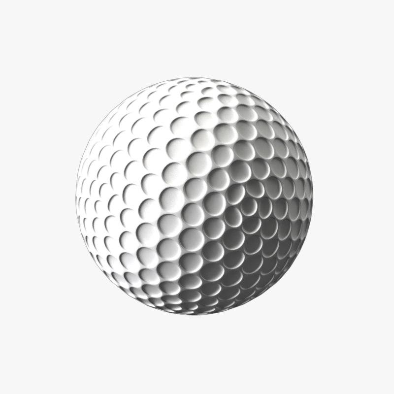 3d model golf ball