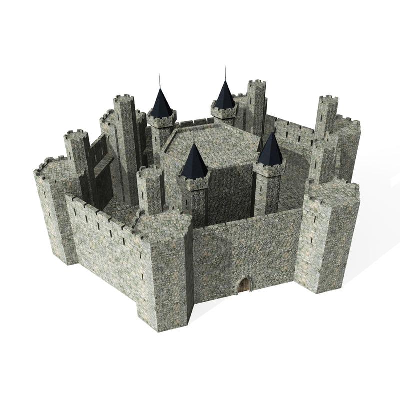 3d medieval castle model for Castle design software